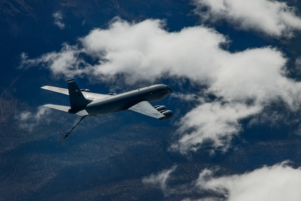 Ops support assists with KC-135 mission during Red Flag 18-2
