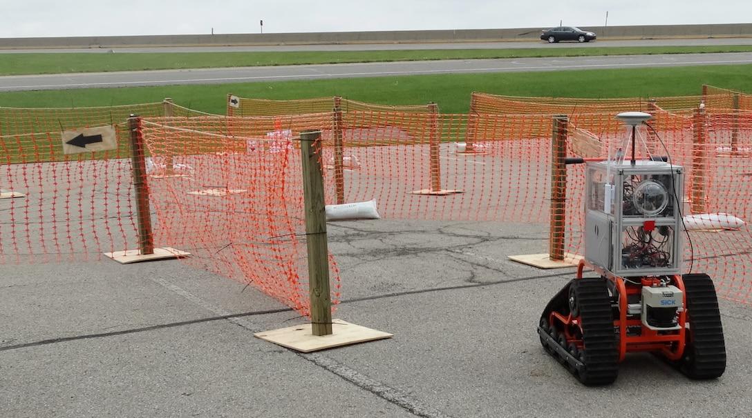Student-built robot navigates obstacle course