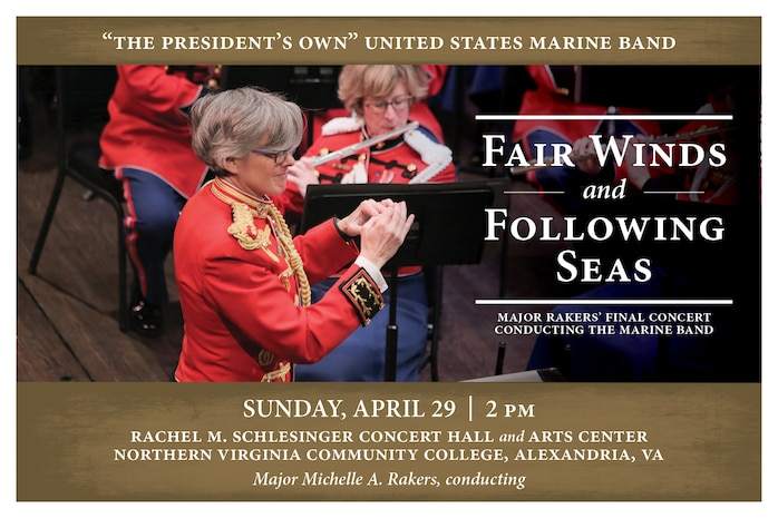 Marine Band Concert: Fair Winds and Following Seas - Sunday, April 29 at 2 p.m.