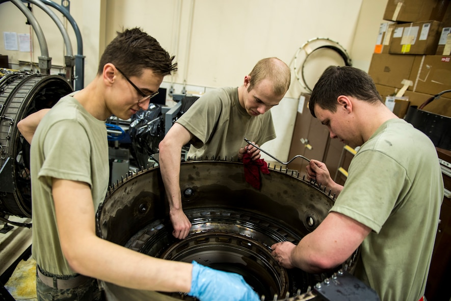 354th MXS Propulsion flight keeps jets in the fight