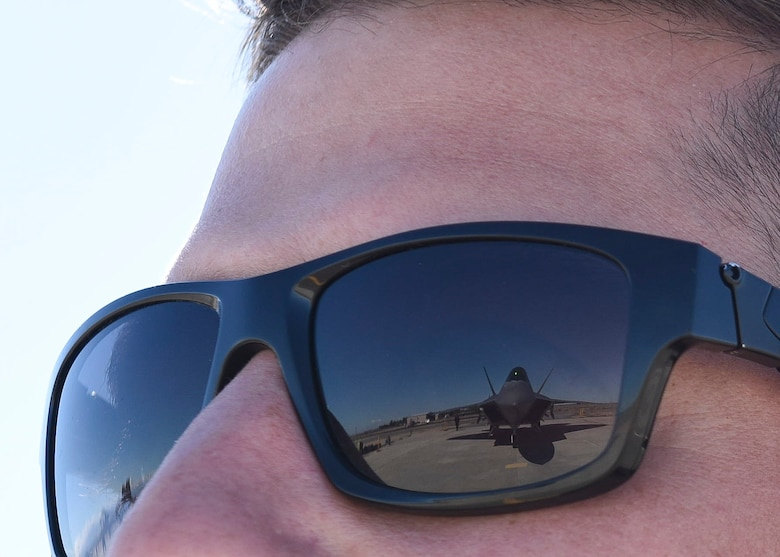 The U.S. Air Force Air Combat Command F-22 Raptor Demonstration Team performs their capabilities for event-goers in Yuma, Arizona and Lancaster California, March 18 and March 24-25, 2018.