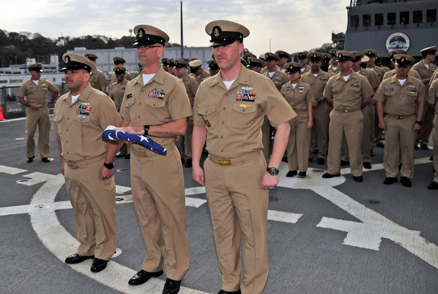 USS Blue Ridge, C7F Chiefs Celebrate 125th CPO birthday