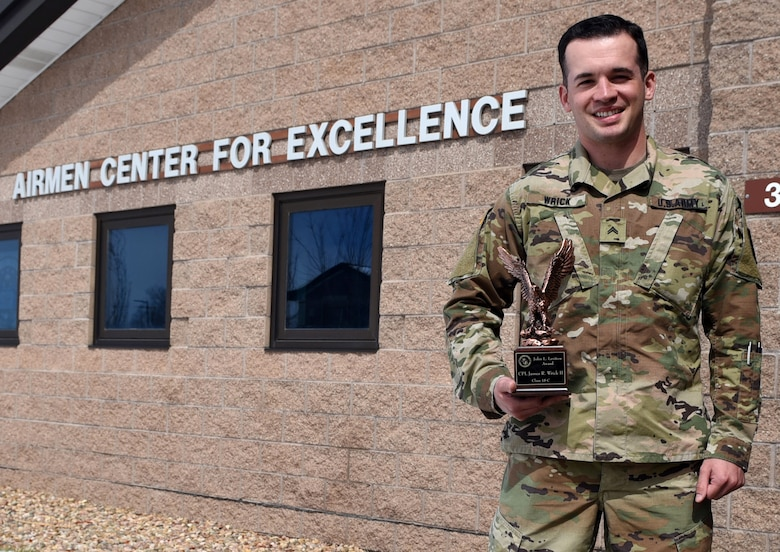 Wrick was hand selected to attend the Air Force ALS course and was awarded the highest achievement upon graduation, the John L. Levitow award for his outstanding performance. (U.S. Air Force photo by Senior Airman Jessica B. Kind)