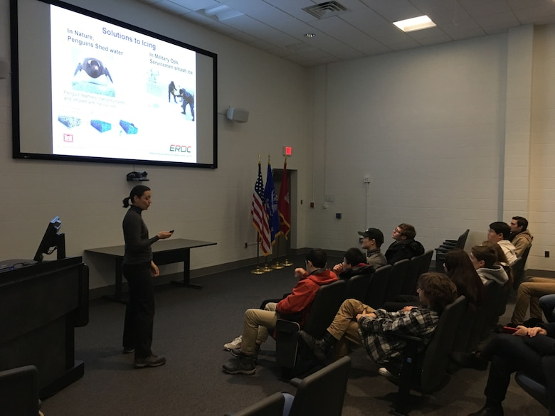 Kimball Union Academy visits Cold Regions Lab