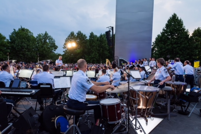 The United States Air Force Band's Summer Concert Series begins May 26th, 2018. Photo by Chief Master Sgt. Robert Kamholz/released