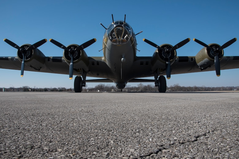 DAYTON, Ohio -- Boeing B-17F Memphis Belle at the National Museum of the United States Air Force on March 10, 2018. (U.S. Air Force photo by Ken LaRock)