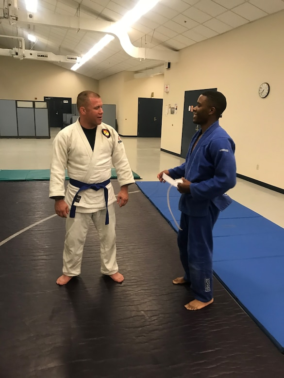 Judo training at March ARB