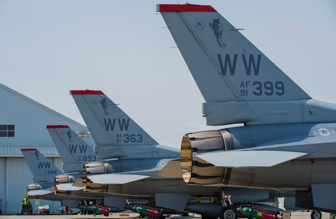Four Falcons lined up