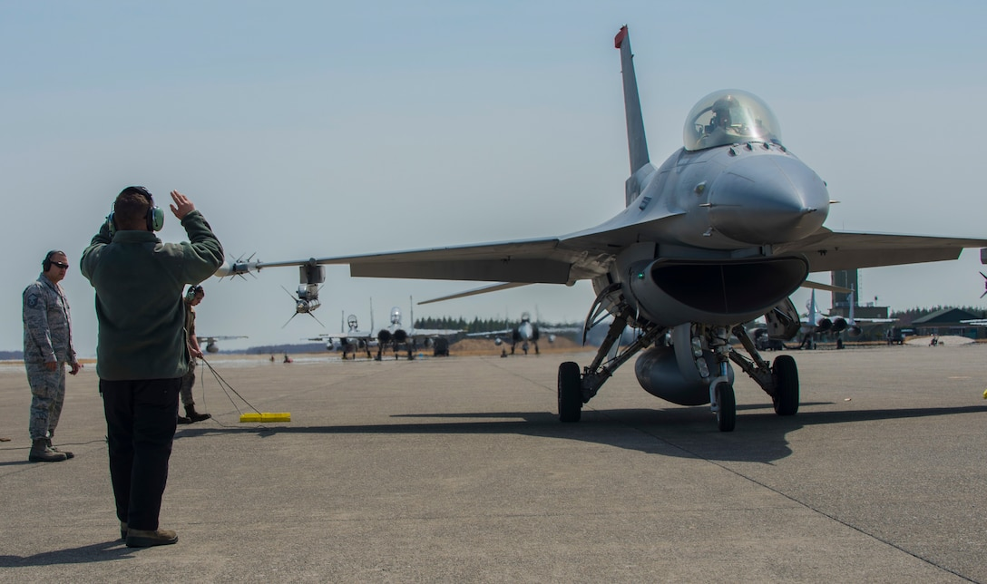 Recovering an F-16 Fighting Falcon
