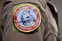 2,000 flying hours patch sticks to a flight suit