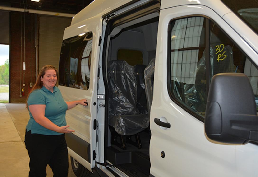 Cutshall shows off new passenger van