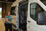 Cutshall shows off new passenger van