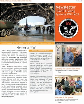 USACE Fueling Systems POL-MCX April 2018 Newsletter