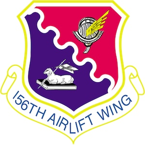 156th Airlift Wing shield