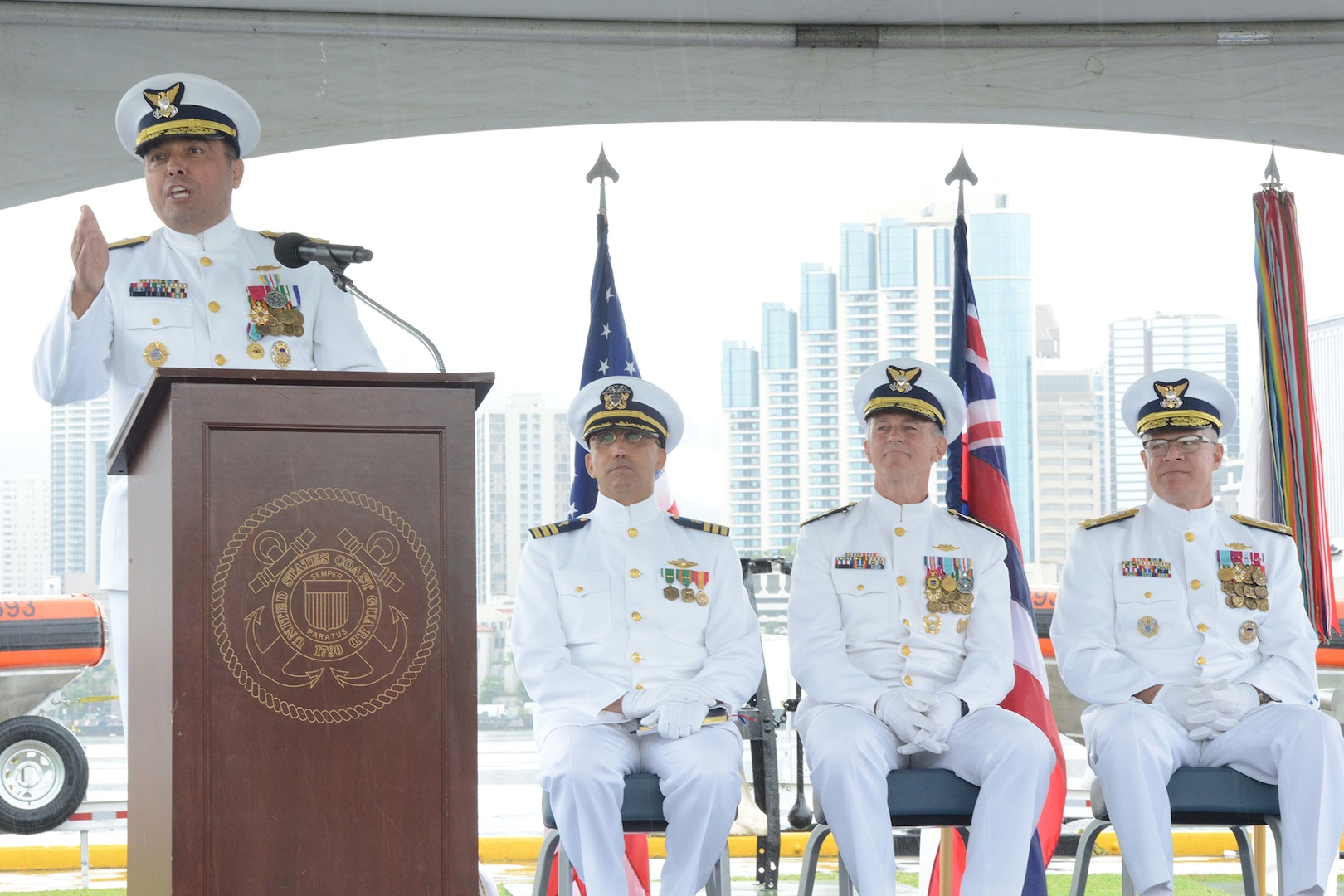 Coast Guard welcomes new admiral to lead 14th District