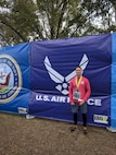Staff Sgt. David Flynn, 94th Aeromedical Staging Squadron diet technician, finished in first place at the Warrior 5K on base. The Warrior 5K is held every year here and is open to all military members, spouses and dependents. (Courtesy photo)