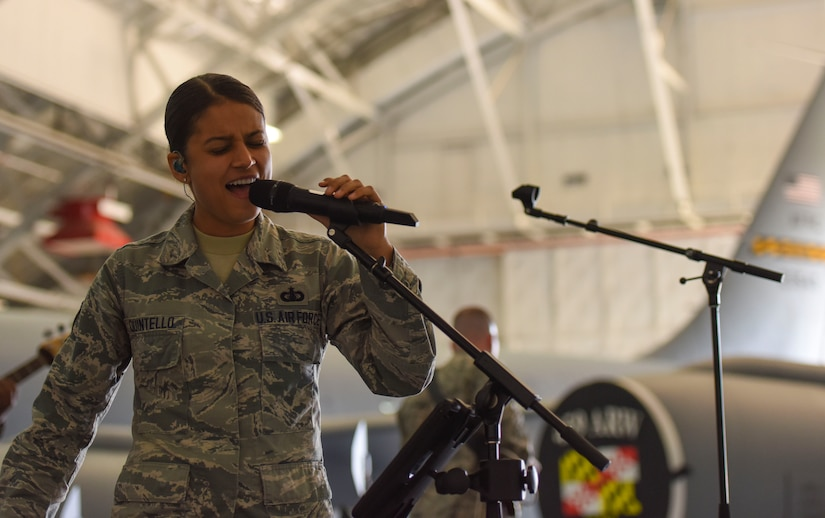 Max Impact singer performs at event