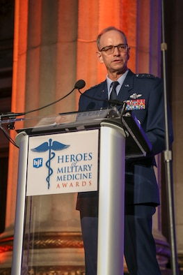 U.S. Air Force Surgeon General Lt. Gen. Mark Ediger gives remarks at the 2018 Heroes of Military Medicine Award Ceremony in Washington, D.C., May 3, 2018. (Courtesy photo by Henry M. Jackson Foundation for the Advancement of Military Medicine)