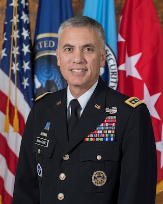 Bio photo for Army Gen. Paul Nakasone, commander of U.S. Cyber Command, director of the National Security Agency, and chief of the Central Security Service.