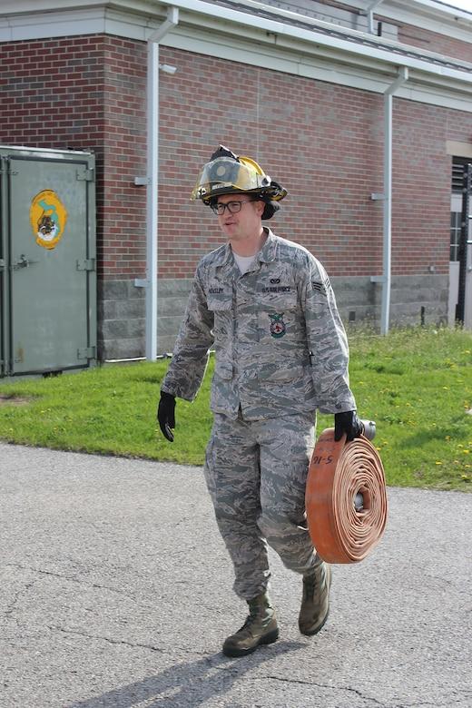 Training at Selfridge Air National Guard Base, Mich.