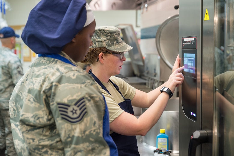 Upgraded 153rd Airlift Wing dining facility re-opens after two year closure