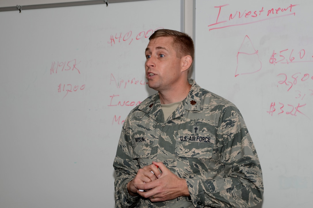 Photo of Chaplain Chris Watson during Financial Peace University.