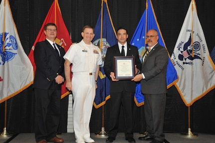 IMAGE: Robert Ward is presented the Navy Meritorious Civilian Service Award at Naval Surface Warfare Center Dahlgren Division's annual awards ceremony, Apr. 26 at the Fredericksburg Expo and Conference Center.
