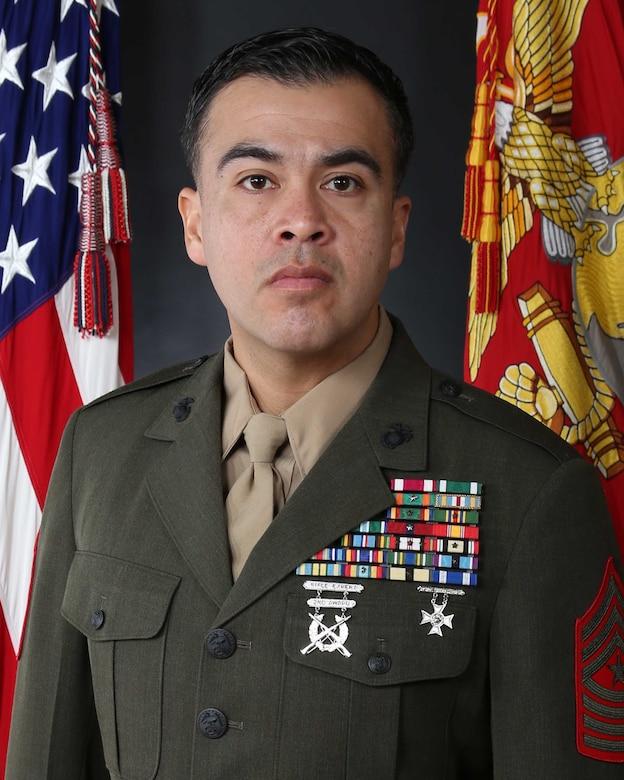 Sergeant Major Roger J. Baez, 8th Engineer Support Battalion sergeant major