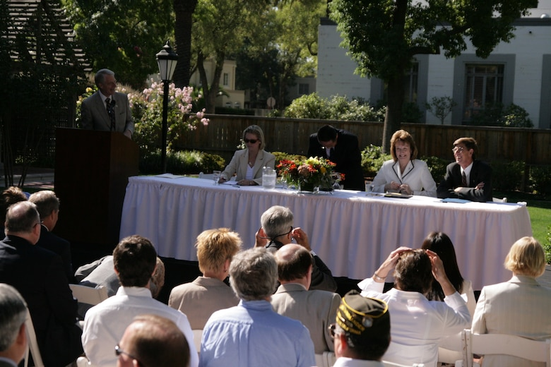 Sacramento County and the U.S. Air Force signed a monumental agreement allowing for rapid cleanup and early land transfer at McClellan in 2007. This was a first in the nation for the Department of Defense, transferring contaminated land, money and authority to perform cleanup at a National Priority List site. At the event, distinguished guests included top officials from the U.S. Air Force, environmental regulatory agencies, local elected officials, McClellan Park and Sacramento County. (Courtesy photo)