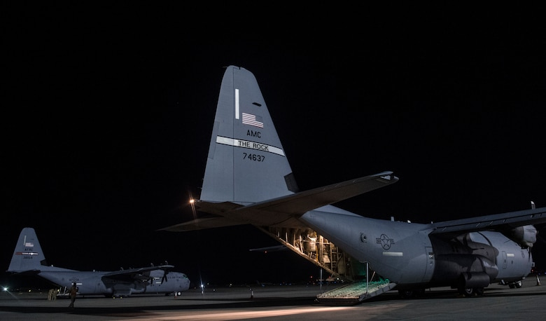 C-130s from geographically separated units drop in Afghanistan