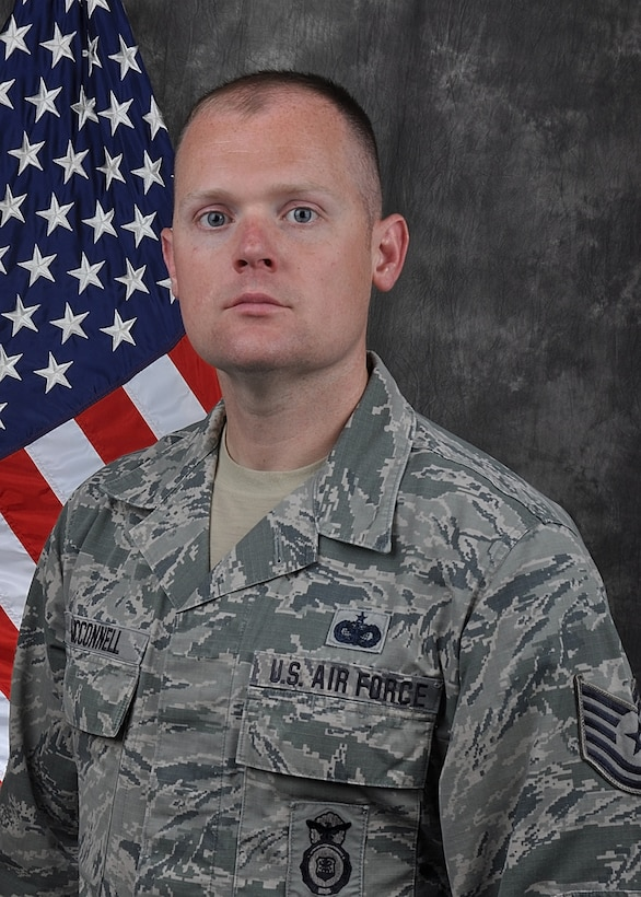 Tech. Sgt. Joshua McConnell, 445th Security Forces Squadron, is the 445th Airlift Wing NCO of the Quarter, first quarter.