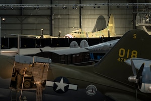 The Boeing B-17F Memphis Belle in the WWII Gallery at the National Museum of the U.S. Air Force. This aircraft will be placed on permanent public display on May 17, 2018. (U.S. Air Force photo)
