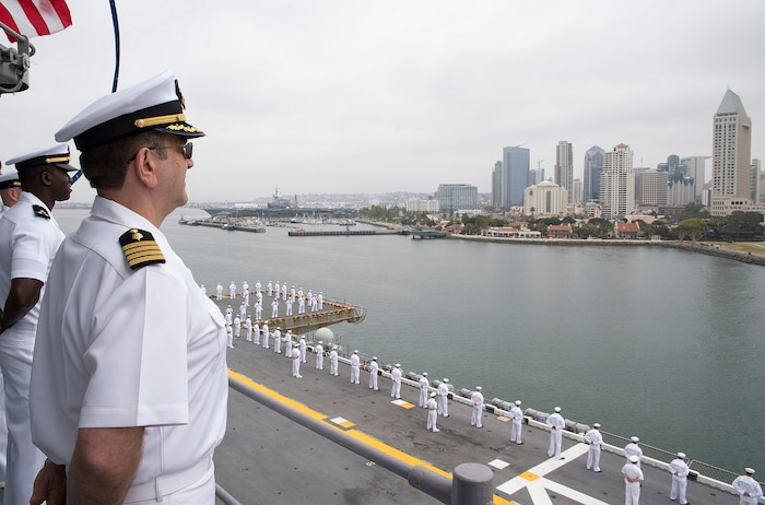 USS Bonhomme Richard arrives in San Diego, completes homeport shift