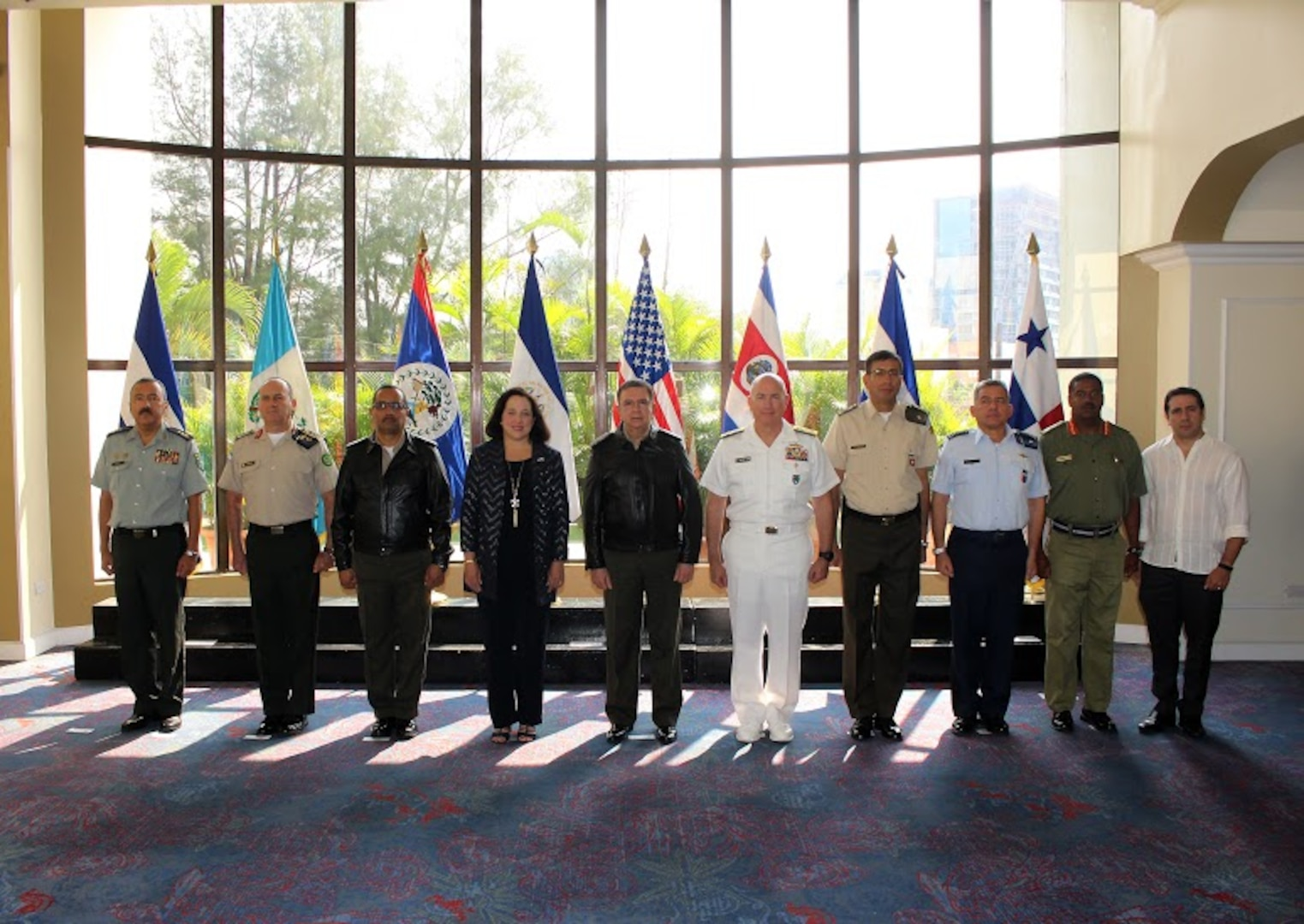 Group photo of the 2018 Central American Security Conference  participants.
