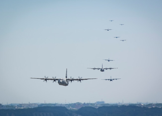 Yokota Airmen team up for airlift surge