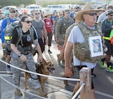 More than 175 Troopers and 22 volunteers participated in Joint Task Force Guantanamo's 10K Suicide Awareness Ruck March on May 5.