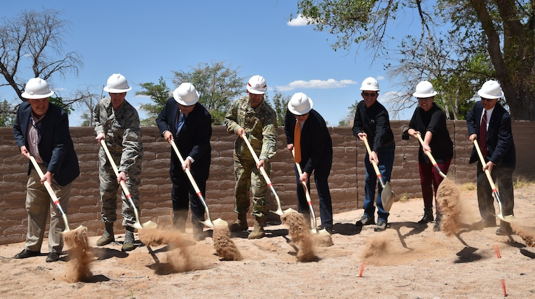 Kirtland leaders broke ground for the Navigation Technology Satellite Integration Laboratory, a $3.8 million state-of-the-art research facility that will allow the Air Force Research Laboratory to maintain vibrant in-house research capabilities. The 10,000 square foot facility is expected to be completed this fall.