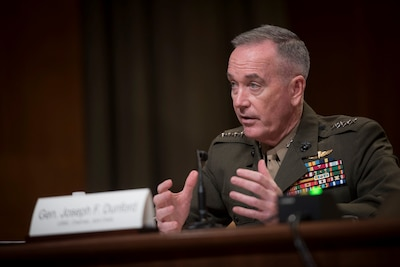 Joint Chiefs chairman testifies at a Senate subcommitttee hearing.