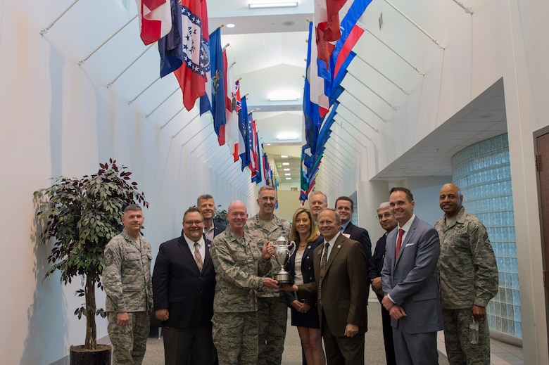 This trophy highlights the success of Team Buckley, which would not be possible without the support of local community leaders. (U.S. Air Force photo by Airman 1st Class Holden S. Faul)