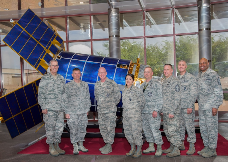 Hyten visited Buckley AFB to recognize and interact with Team Buckley members, who had an outstanding year of performance in 2017. (U.S. Air Force photo by Airman 1st Class Holden S. Faul)