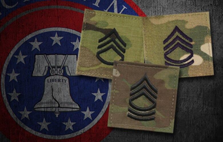 SSG, SFC, MSG Ranks with USAREC Logo