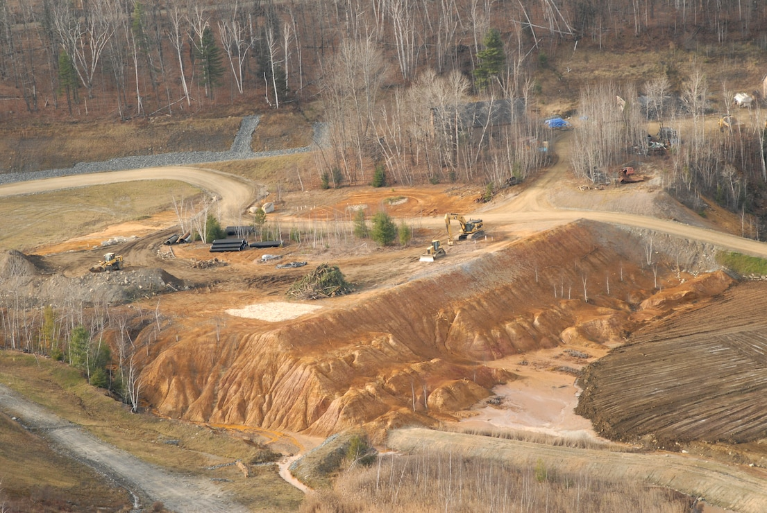 Cleanup at the Elizabeth Mine Superfund Project in November 2009.