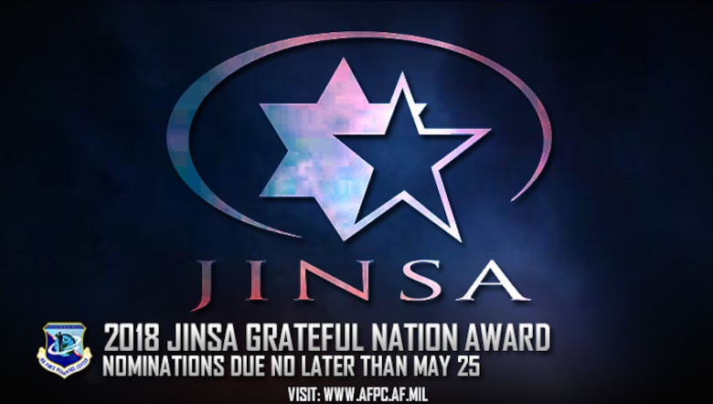 2018 JINSA Grateful Nation award; nominations due no later than May 25