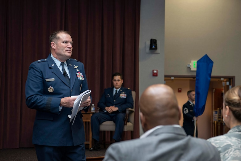 Maj. Robert Gramling, assumed command of the 618th Air Communications Squadron (ACOMS), during an activation ceremony May 11, 2018 at Scott Air Force Base, Ill.