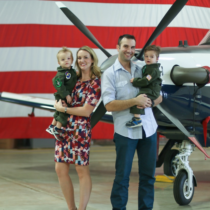 Andrew U.S. Air Force Major Lindsay Andrew, 12th Training Squadron director of student affairs, poses with her family. Lindsay is the mother of twins and has been serving in the air Force for 14 years. (courtesy photo)