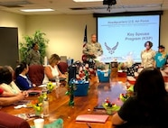 The 452nd Air Mobility Wing conducted training for its Key Spouse squadron representatives at the 452nd Mission Support Group conference room on Saturday, May 5, 2018 here at March Air Reserve Base.
