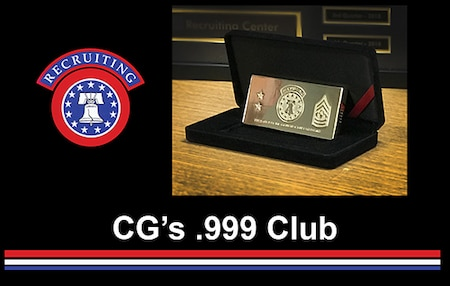USAREC Logo with CG's .999 Gold bar award