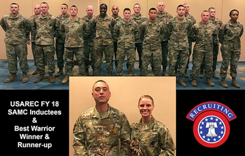 FY 18 USAREC SAMC Inductees and Best Warrior 