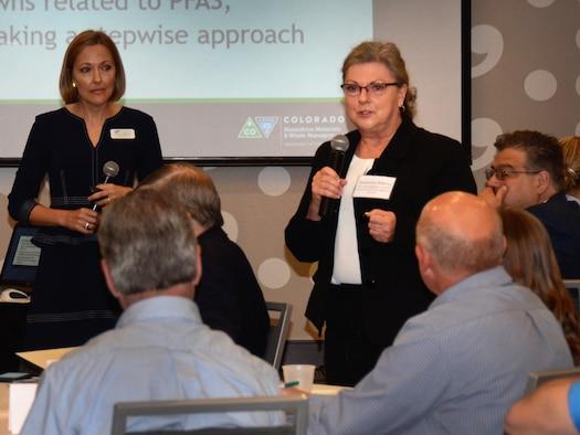 Suzanne Bilbrey addresses the Air Force Central Regional Environmental Restoration Summit May 9 in Denver.