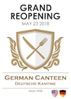 After several months of renovations, the German Canteen on Ramstein Air Base, Germany, will reopen to the public May 23, 2018 at 6 a.m.